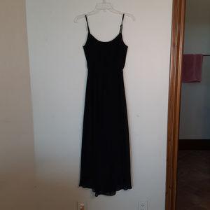 Banana Republic Black Layered Hi Lo Straps Dress